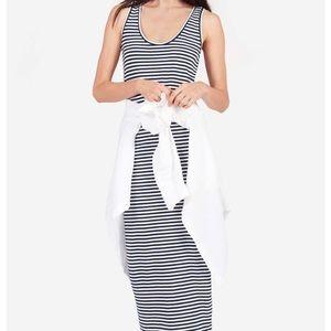 Everlane Navy/White Striped Cotton Tank Dress XS
